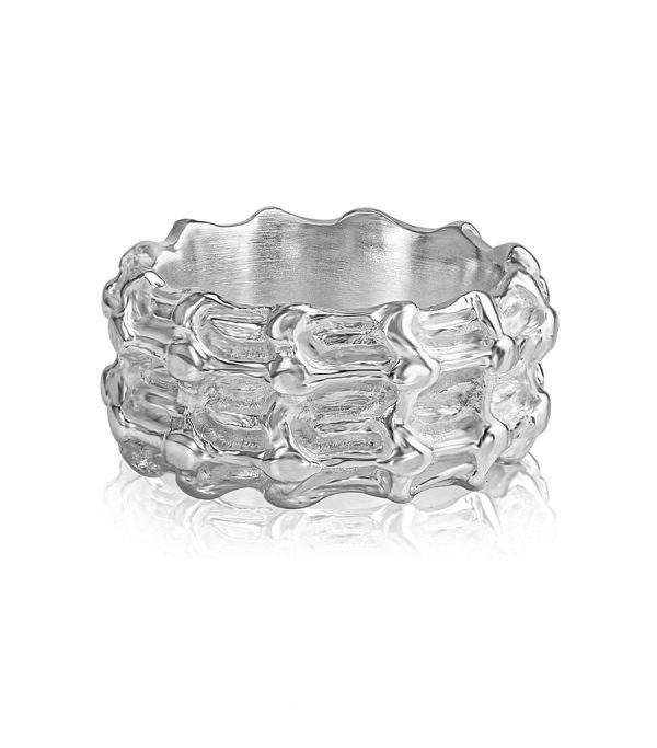 Basic Ring silver BONE