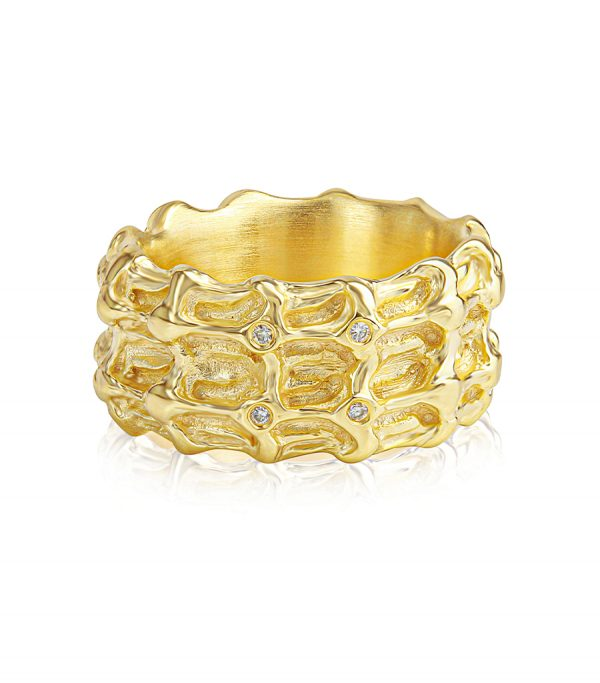 Diamond Ring gold BONE