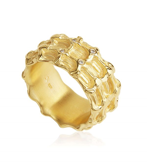 Diamond Ring gold BONE - Galerie