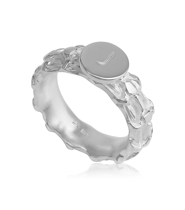 Signature Single Ring silver BONE - Galerie