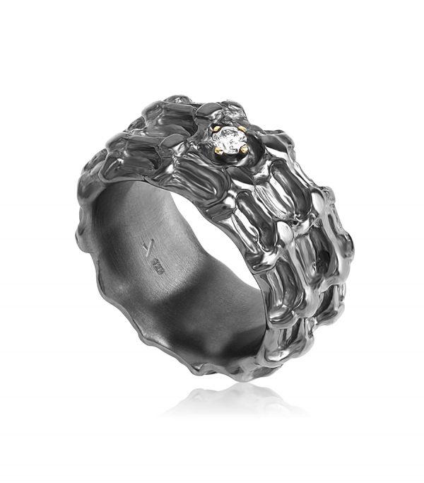 Solitär Ring black BONE Galerie