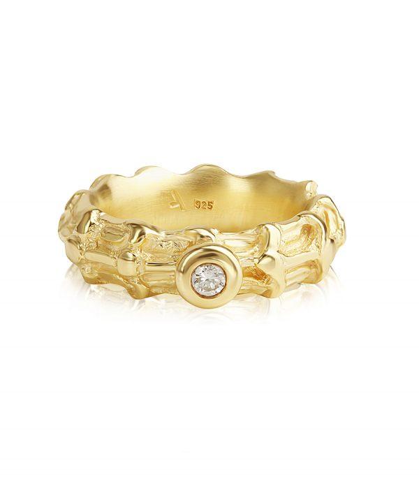Solitär Ring gold BONE