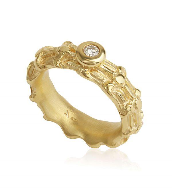 Solitär Ring gold BONE - Galerie